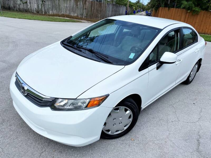 2012 Honda Civic for sale at LESS PRICE AUTO BROKER in Hollywood FL