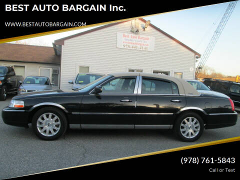 2009 Lincoln Town Car for sale at BEST AUTO BARGAIN inc. in Lowell MA