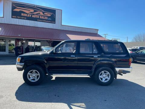 1994 Toyota 4Runner for sale at Ridley Auto Sales, Inc. in White Pine TN