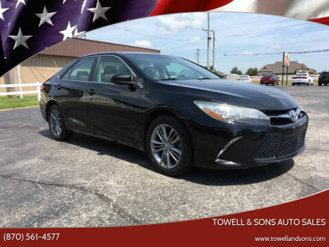 2015 Toyota Camry for sale at Towell & Sons Auto Sales in Manila AR