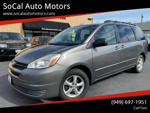 2004 Toyota Sienna for sale at SoCal Auto Motors in Costa Mesa CA