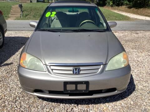 2002 Honda Civic for sale at Moose Motors in Morganton NC
