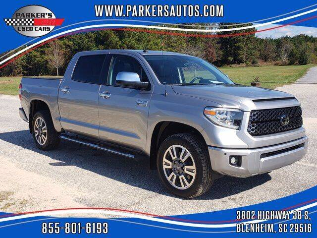 2019 Toyota Tundra for sale at Parker's Used Cars in Blenheim SC