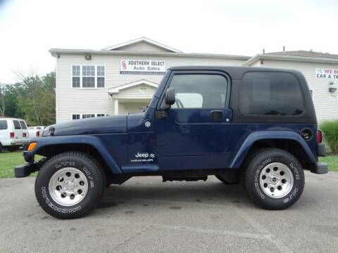 2006 Jeep Wrangler for sale at SOUTHERN SELECT AUTO SALES in Medina OH