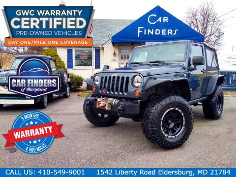 2007 Jeep Wrangler for sale at CAR FINDERS OF MARYLAND LLC - Certified Cars in Eldersburg MD