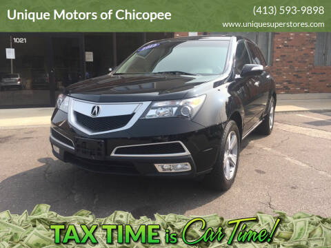2012 Acura MDX for sale at Unique Motors of Chicopee in Chicopee MA