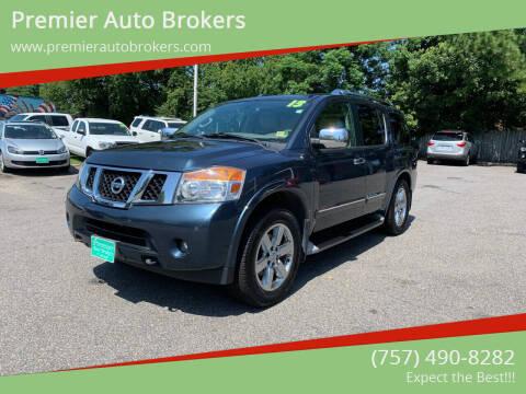 2013 Nissan Armada for sale at Premier Auto Brokers in Virginia Beach VA
