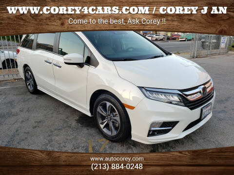 2018 Honda Odyssey for sale at WWW.COREY4CARS.COM / COREY J AN in Los Angeles CA