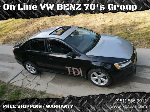 2012 Volkswagen Jetta for sale at On Line VW BENZ 70's Group in Warehouse CA