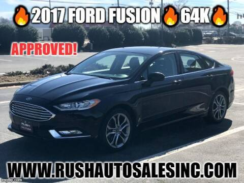 2017 Ford Fusion for sale at RUSH AUTO SALES in Burlington NC