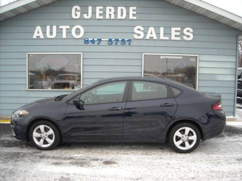 2015 Dodge Dart for sale at GJERDE AUTO SALES in Detroit Lakes MN