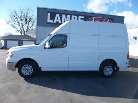 2012 Nissan NV Cargo for sale at Lampe Auto Sales in Merrill IA