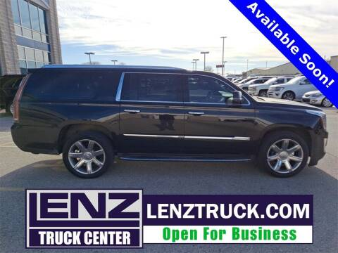2016 Cadillac Escalade ESV for sale at LENZ TRUCK CENTER in Fond Du Lac WI