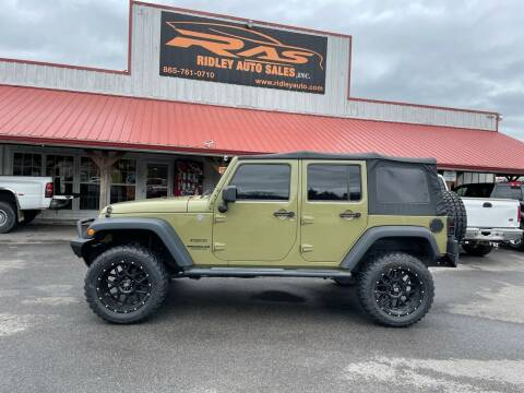 2013 Jeep Wrangler Unlimited for sale at Ridley Auto Sales, Inc. in White Pine TN