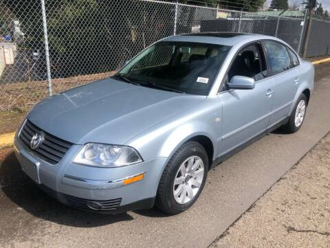 2001 Volkswagen Passat for sale at Blue Line Auto Group in Portland OR