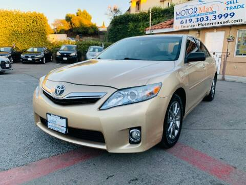 2011 Toyota Camry Hybrid for sale at MotorMax in Lemon Grove CA