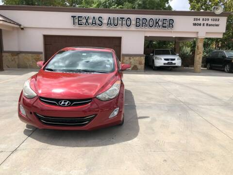 2013 Hyundai Elantra for sale at Texas Auto Broker in Killeen TX
