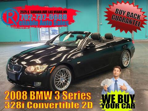 2008 BMW 3 Series for sale at Reliable Auto Sales in Las Vegas NV