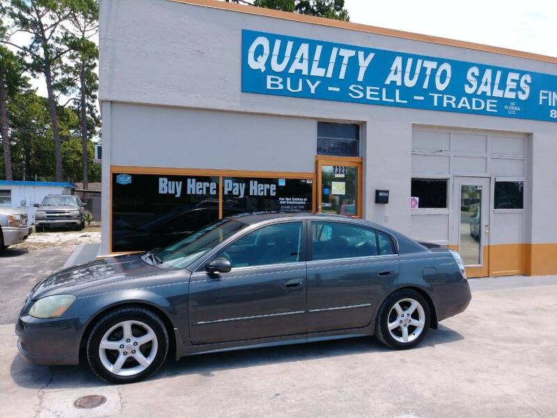 2005 Nissan Altima for sale at QUALITY AUTO SALES OF FLORIDA in New Port Richey FL
