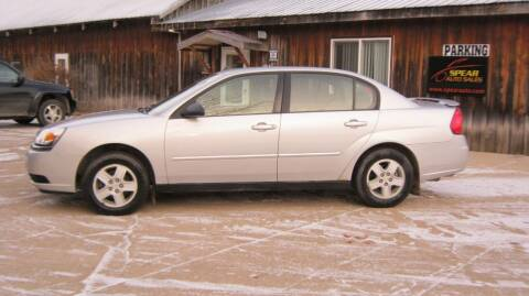 2005 Chevrolet Malibu for sale at Spear Auto Sales in Wadena MN