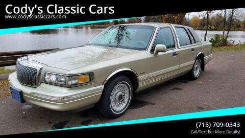 1997 Lincoln Town Car for sale at Cody's Classic Cars in Stanley WI