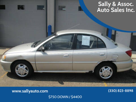 2002 Kia Rio for sale at Sally & Assoc. Auto Sales Inc. in Alliance OH