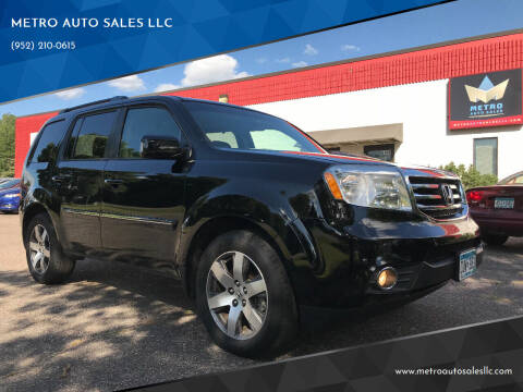 2013 Honda Pilot for sale at METRO AUTO SALES LLC in Blaine MN