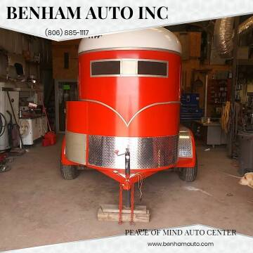1985 2 HORSE TRAILER for sale at BENHAM AUTO INC - Benham Auto Trailers in Lubbock TX