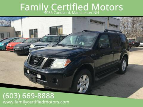 2009 Nissan Pathfinder for sale at Family Certified Motors in Manchester NH