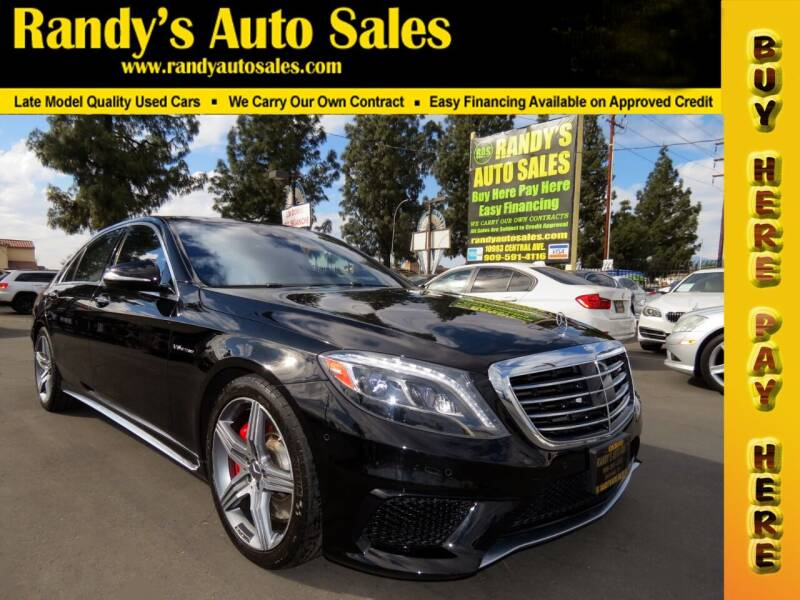2015 Mercedes-Benz S-Class for sale at Randy's Auto Sales in Ontario CA