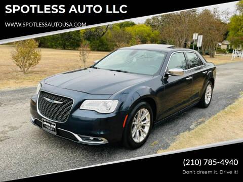 2017 Chrysler 300 for sale at SPOTLESS AUTO LLC in San Antonio TX