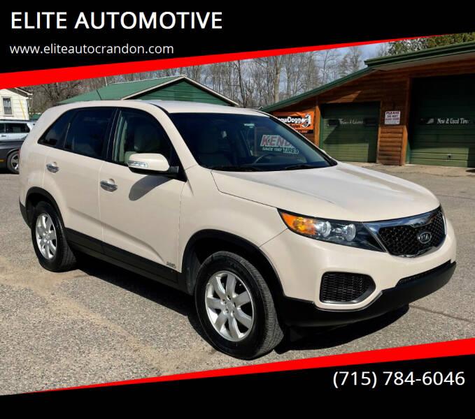 2012 Kia Sorento for sale at ELITE AUTOMOTIVE in Crandon WI