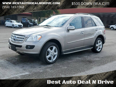 2007 Mercedes-Benz M-Class for sale at Best Auto Deal N Drive in Hollywood FL