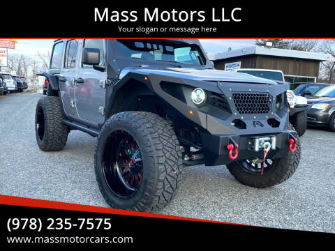 2020 Jeep Wrangler Unlimited for sale at Mass Motors LLC in Worcester MA