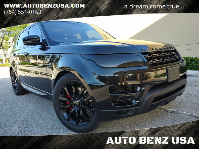 2017 Land Rover Range Rover Sport for sale at AUTO BENZ USA in Fort Lauderdale FL