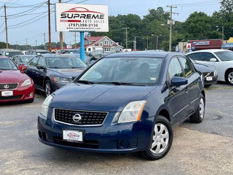 2009 Nissan Sentra for sale at Supreme Auto Sales in Chesapeake VA