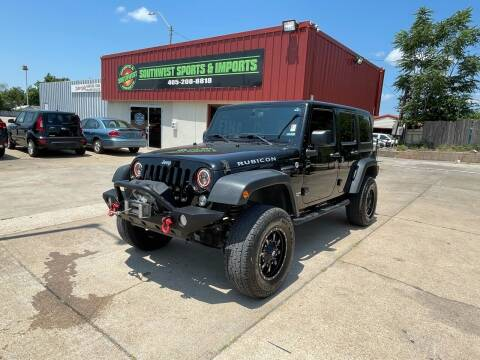2015 Jeep Wrangler Unlimited for sale at Southwest Sports & Imports in Oklahoma City OK