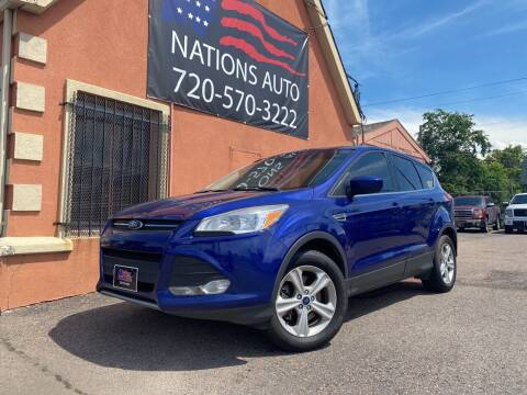 2015 Ford Escape for sale at Nations Auto Inc. II in Denver CO