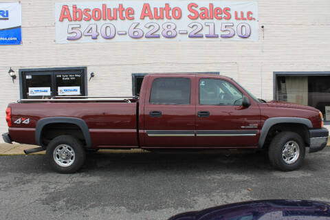 2003 Chevrolet Silverado 2500HD for sale at Absolute Auto Sales in Fredericksburg VA