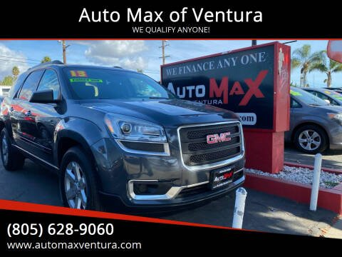 2013 GMC Acadia for sale at Auto Max of Ventura in Ventura CA