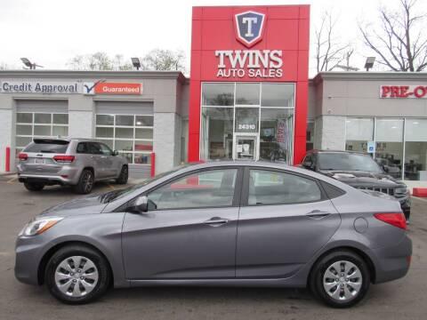 2017 Hyundai Accent for sale at Twins Auto Sales Inc in Detroit MI