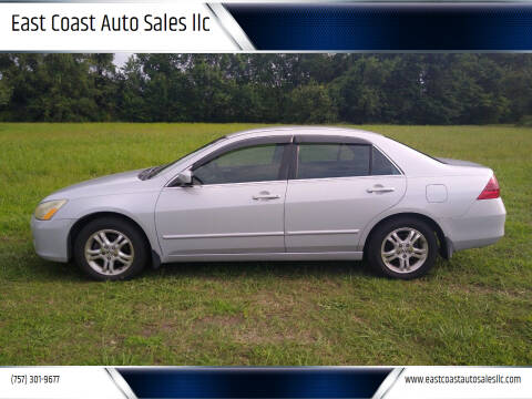 2006 Honda Accord for sale at East Coast Auto Sales llc in Virginia Beach VA