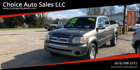 2006 Toyota Tundra for sale at Choice Auto Sales LLC - Cash Inventory in White House TN