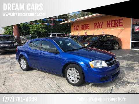 2013 Dodge Avenger for sale at DREAM CARS in Stuart FL