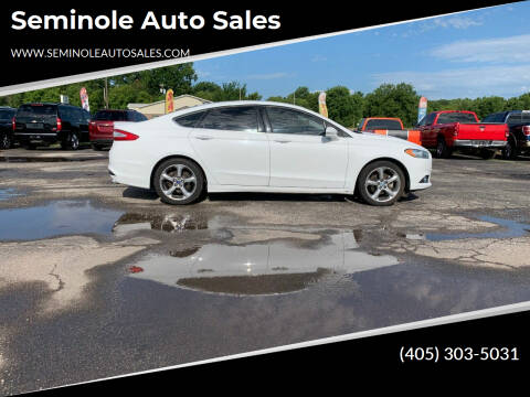 2013 Ford Fusion for sale at Seminole Auto Sales in Seminole OK