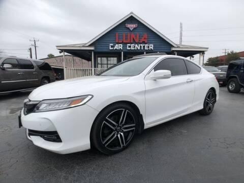 2016 Honda Accord for sale at LUNA CAR CENTER in San Antonio TX