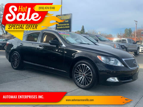 2007 Lexus LS 460 for sale at AUTOMAX ENTERPRISES INC. in Roseville CA