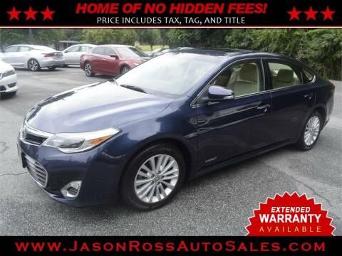 2014 Toyota Avalon Hybrid for sale at Jason Ross Auto Sales in Burlington NC