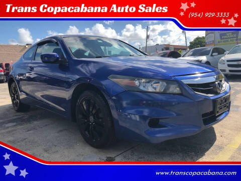 2011 Honda Accord for sale at Trans Copacabana Auto Sales in Hollywood FL