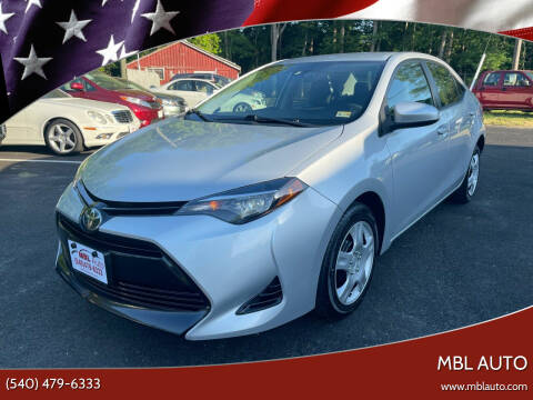 2017 Toyota Corolla for sale at MBL Auto in Fredericksburg VA